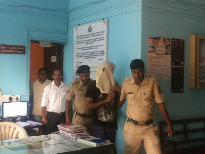 Vikat Bhagat in Police custody on 16th March in Goa.