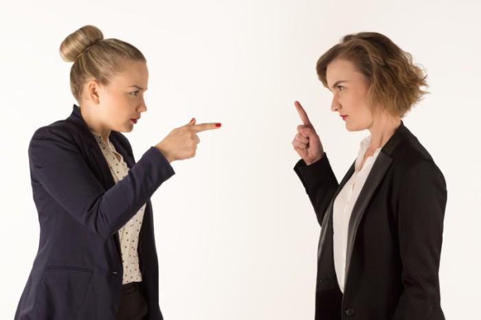 two business women swear