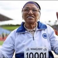 101 سالہ بوڑهی عورت نے سو میٹر ریس میں سونے کا تمغہ جیت لیا.....